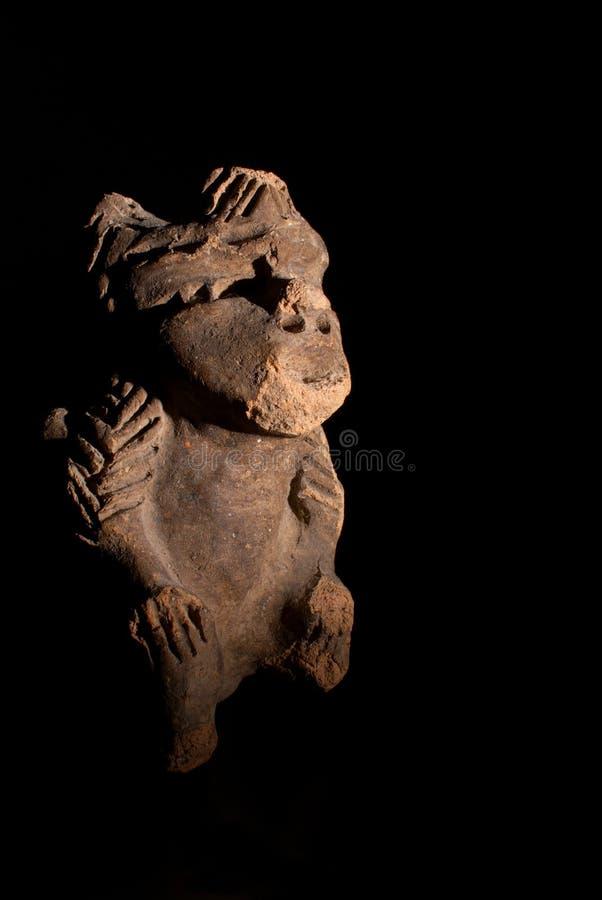 Aztec art. Precolumbine aztec art, sculpture representing an idol stock photos