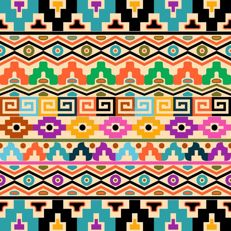 Aztec bakgrund stock illustrationer