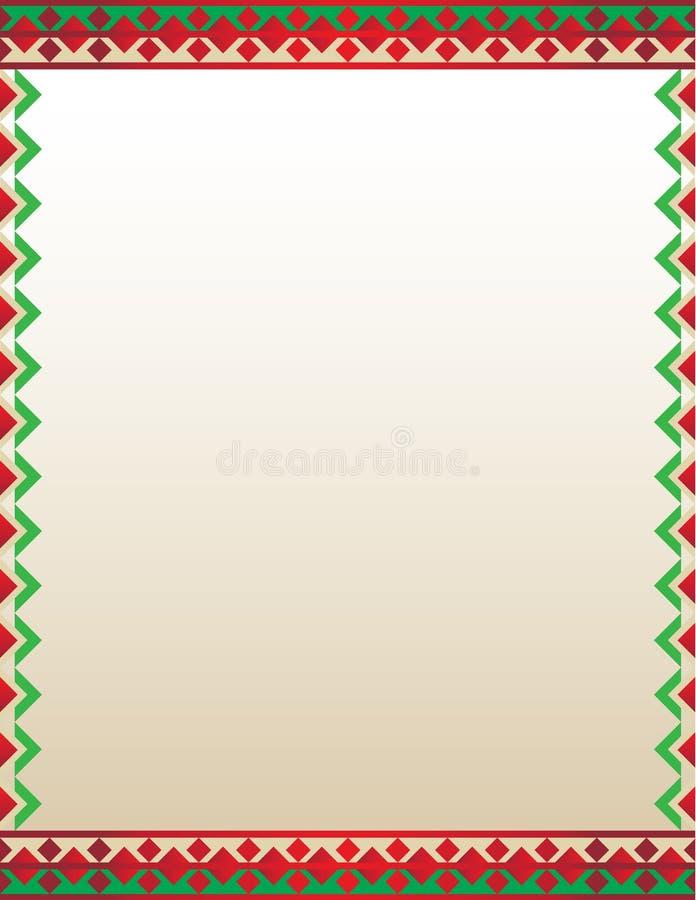 Aztec Border Flyer Template Stock Illustration - Illustration of ...
