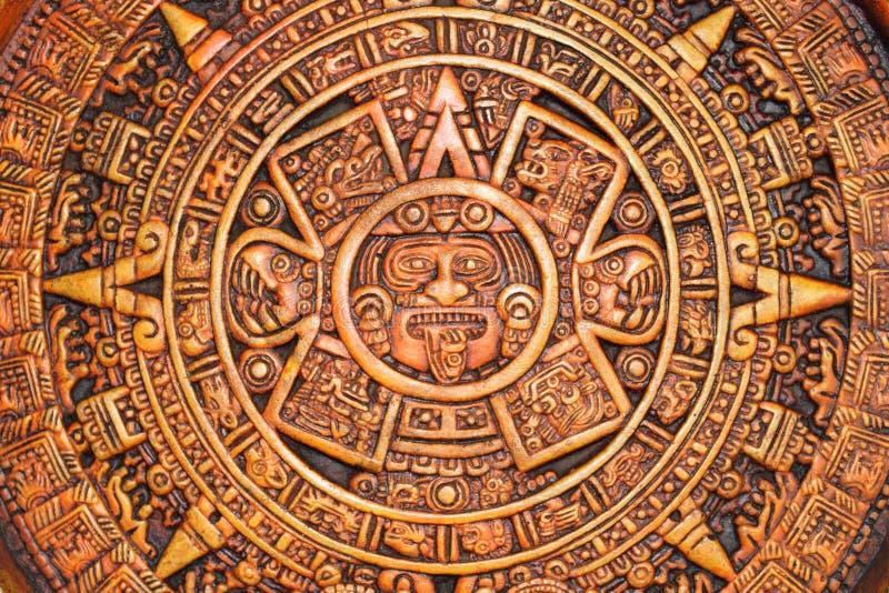 Aztec calendar. A close up view of a aztec calendar royalty free stock photo