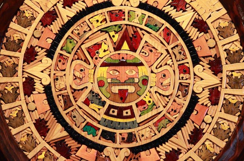 Aztec calendar. Close up view of a Aztec Calendar royalty free stock image
