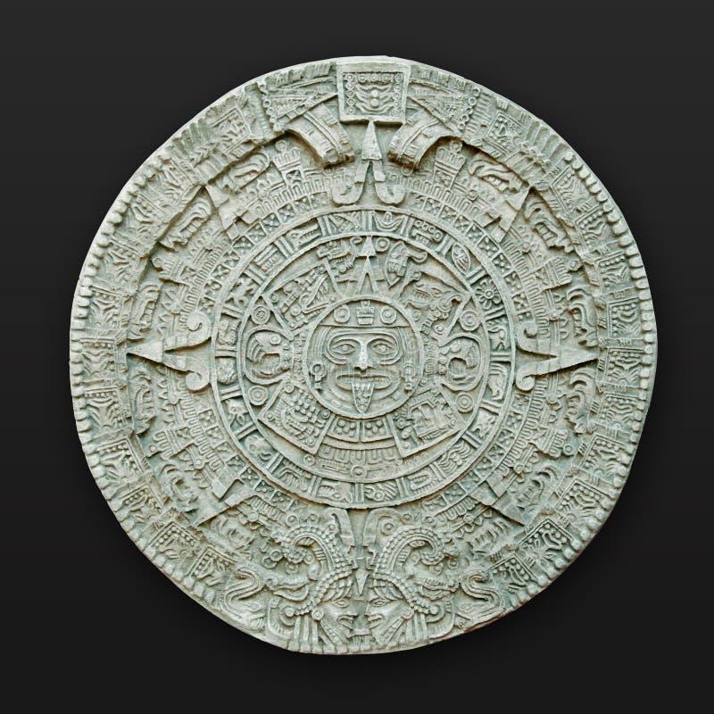 Aztec calendar latin america stock photos