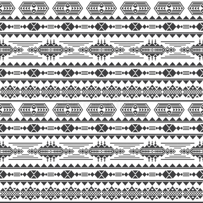 Free Aztec Culture Vector Seamless Pattern. Mexican Maya Endless Background Stock Photography - 97930442