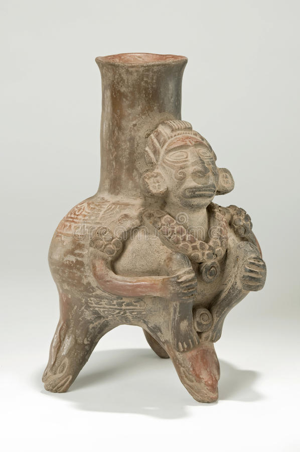 Download Aztec Decorated Vase stock image. Image of carved, earthenware - 14855109