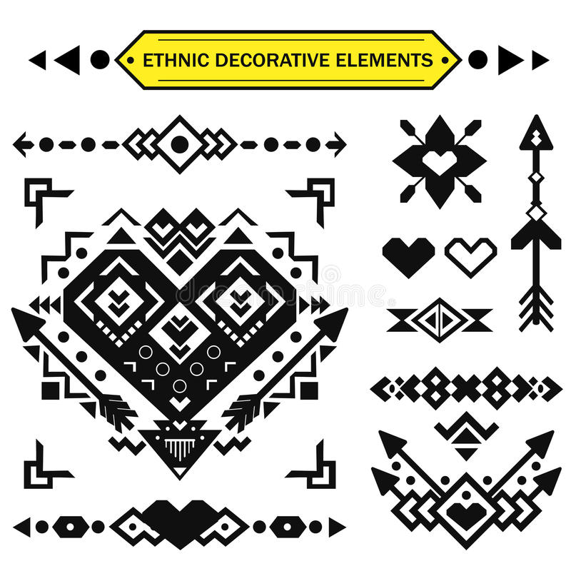 Aztec decorative elements. royalty free stock image