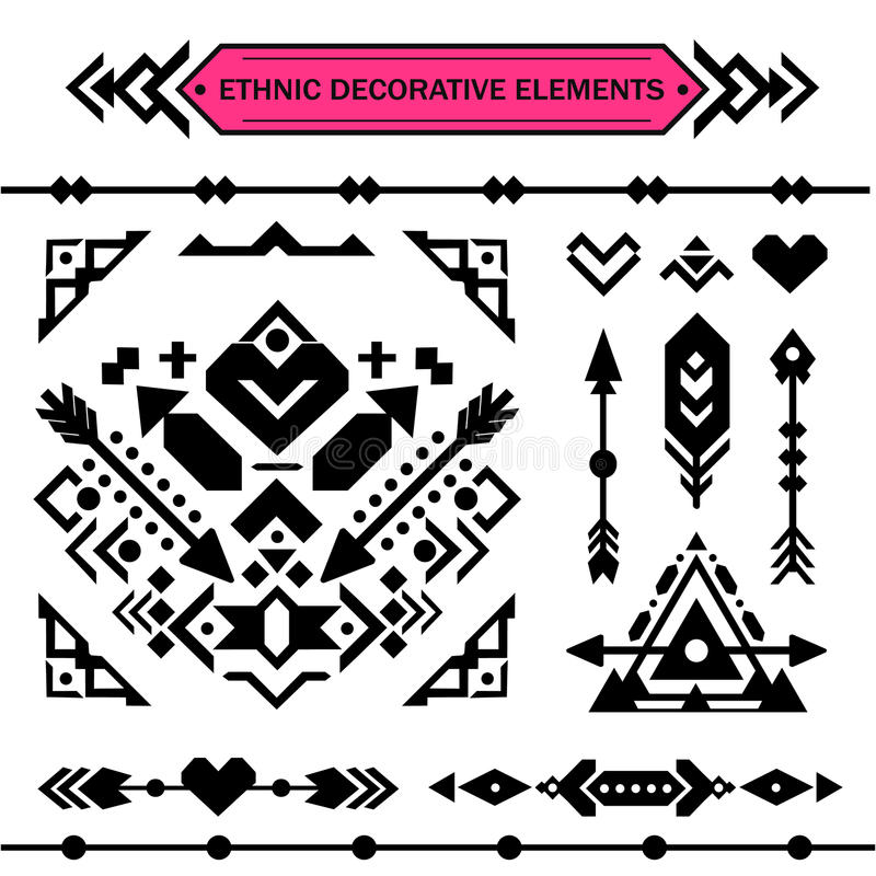 Aztec decorative elements. stock photography