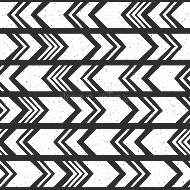 Aztec ethnic seamless pattern, tribal black and white background. vector illustration