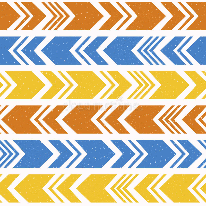 Aztec ethnic seamless pattern, tribal colorful background. vector illustration