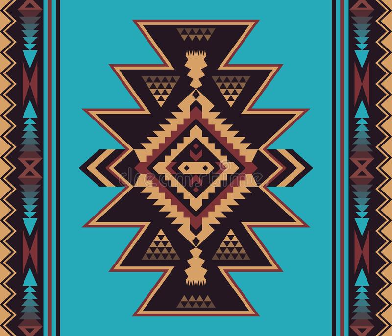 Native Southwest American, Indian, Aztec, Navajo seamless patter royalty free stock photos