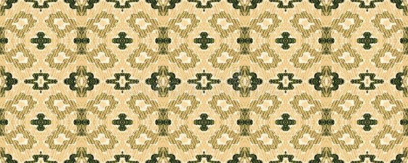 Ikat Seamless Pattern. Aztec Geometric Textile Border Allover Organic Swimwear Design. Geo Ogee Tile.  Psychedelic Rainbow Ogee Seamless Texture. Ikat Pattern royalty free illustration