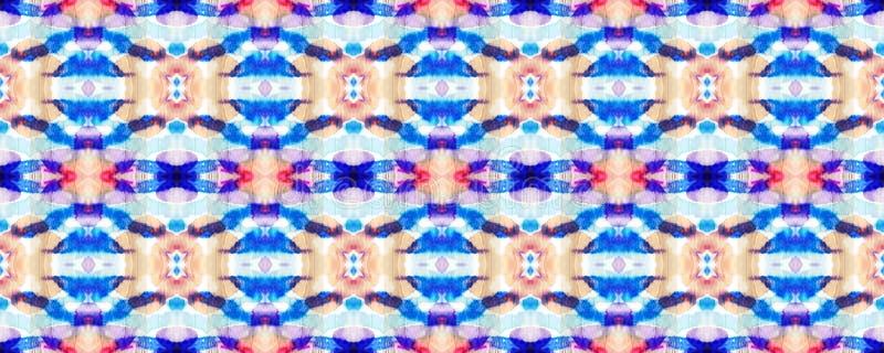 Ikat Seamless Pattern. Aztec Geometric Textile Border Allover Organic Swimwear Design. Geo Ogee Tile.  Watercolor Hand Drawn Textile. Creative Navajo Ikat vector illustration