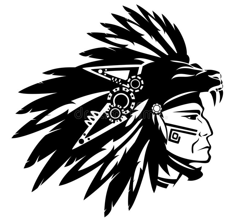 Free Aztec Indian Chief Stock Images - 43168114