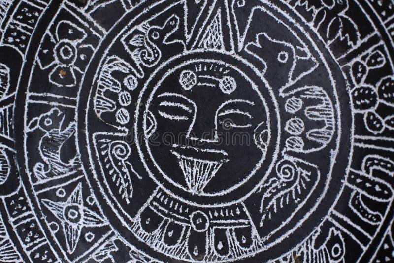 aztec kalender royaltyfri bild