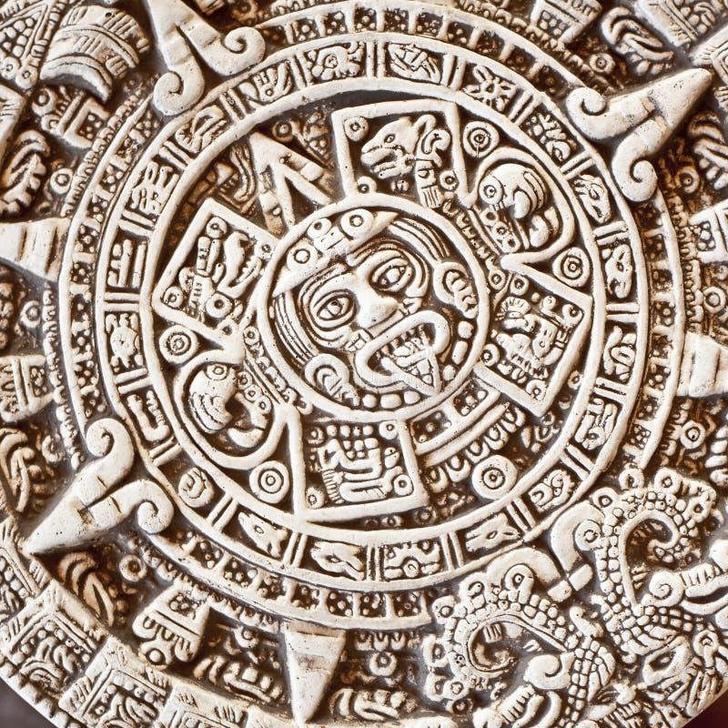 aztec kalenderstensun royaltyfri bild
