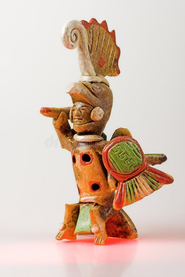 aztec krigare royaltyfri foto