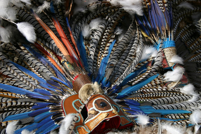 Download Aztec mask stock image. Image of indian, birds, mexico - 4033795