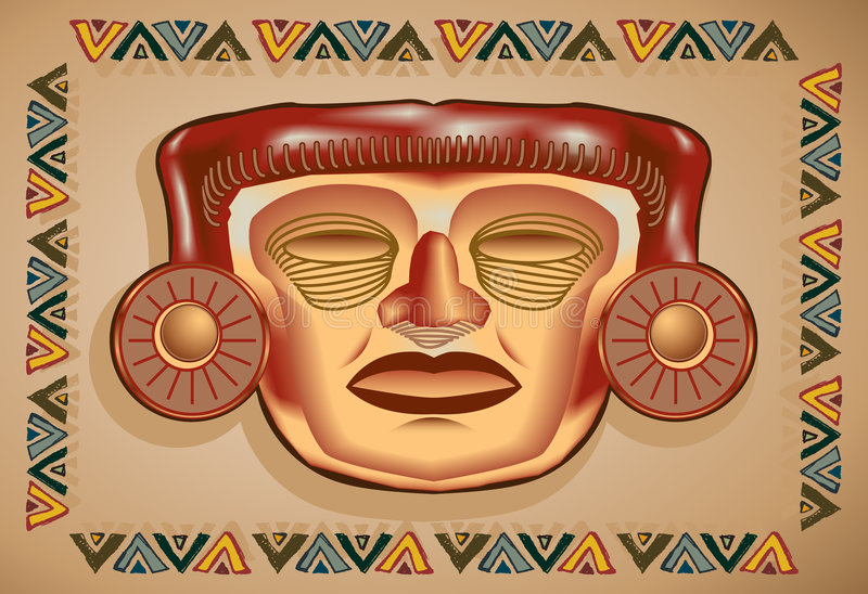 Download Aztec Mask stock vector. Image of colony, artwork, artistic - 8077269