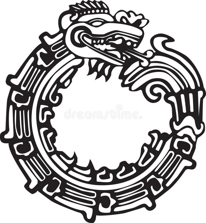 Aztec Maya Dragon - Fantástico para el arte de tatuajes libre illustration