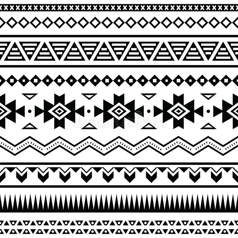 Aztec mexikansk sömlös modell stock illustrationer