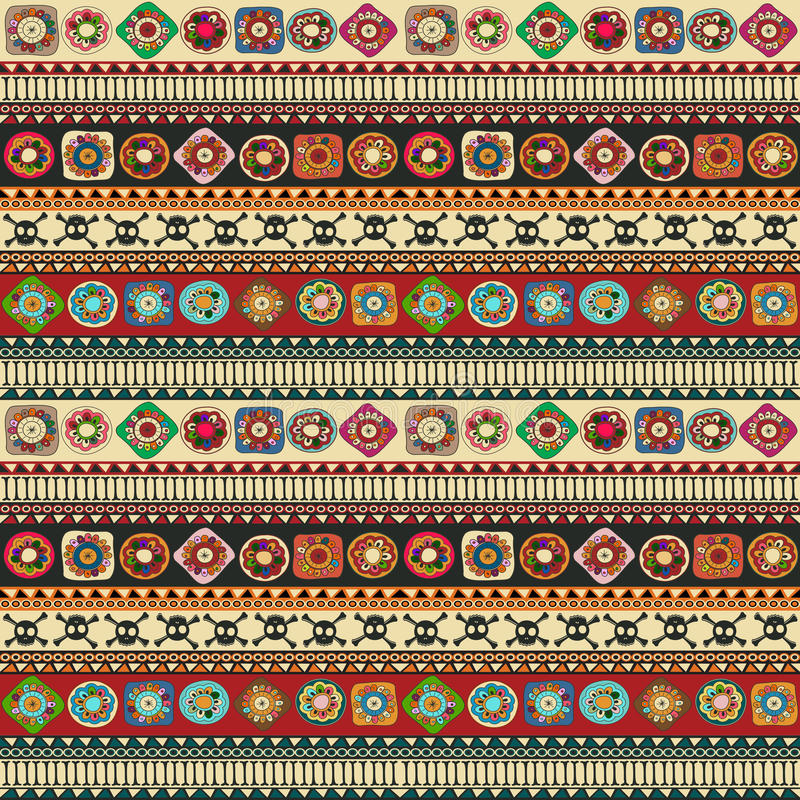 Aztec pattern royalty free illustration