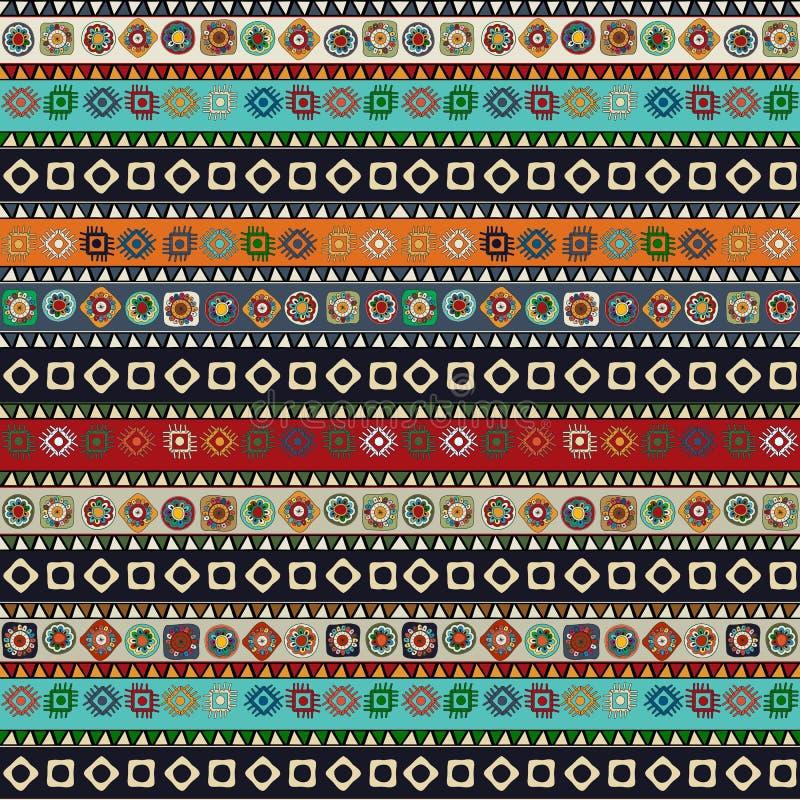 Aztec pattern stock illustration
