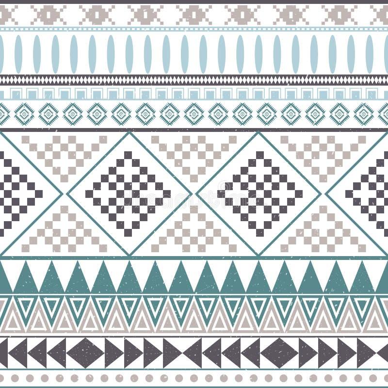 Aztec peruvian ethnic seamless pattern, tribal pink and orange background. royalty free illustration
