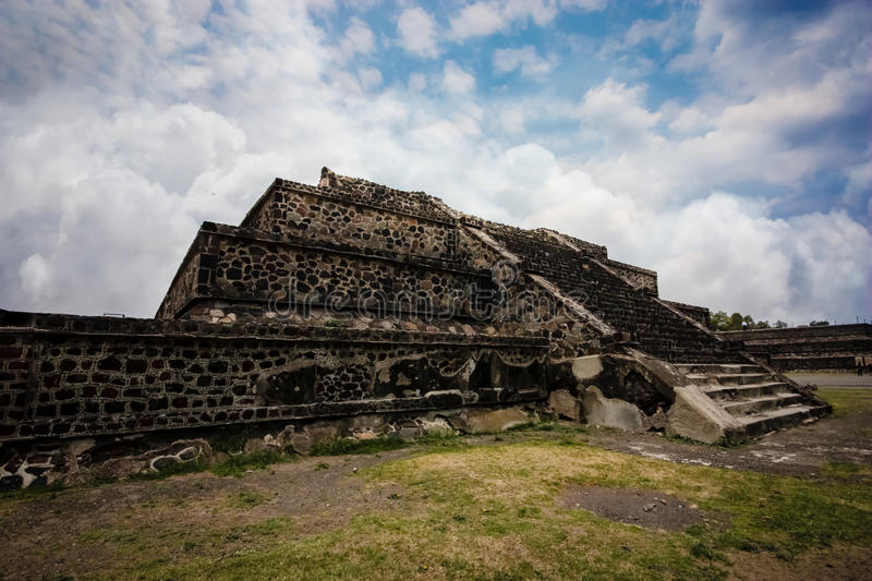 Aztec Pyramid. In Teotihuacan, Mexico stock photography
