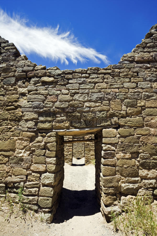 Aztec Ruins. National Monument in New Mexico royalty free stock photos