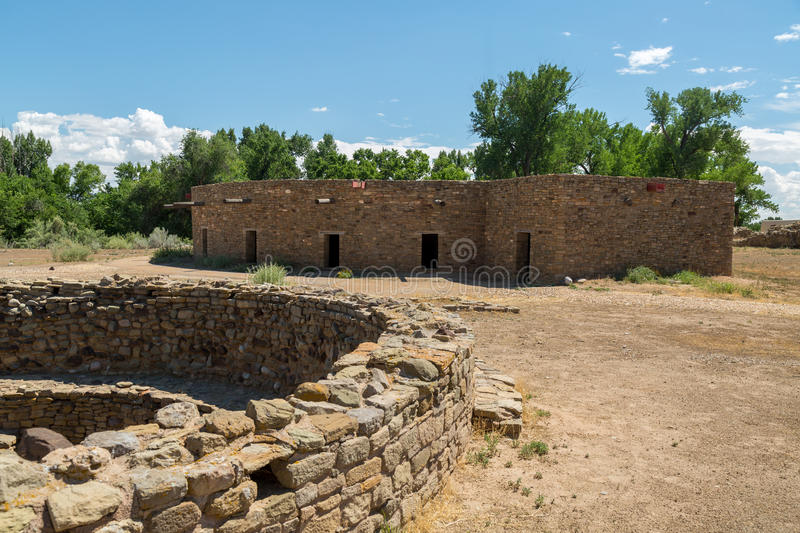 Aztec Ruins National Monument in New Mexico. Amazing scenes from Aztec Ruins in New Mexico royalty free stock images