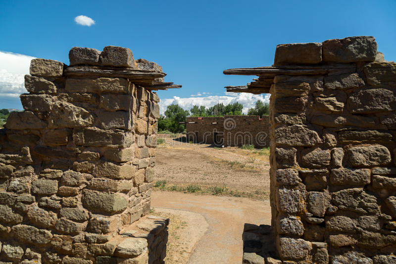 Aztec Ruins National Monument in New Mexico. Amazing scenes from Aztec Ruins in New Mexico royalty free stock image