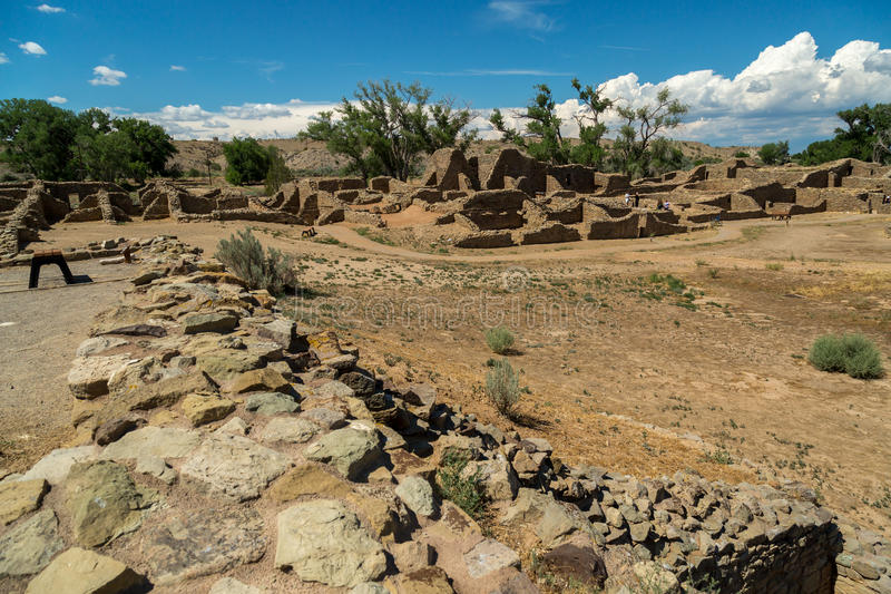 Aztec Ruins National Monument in New Mexico. Amazing scenes from Aztec Ruins in New Mexico stock photography