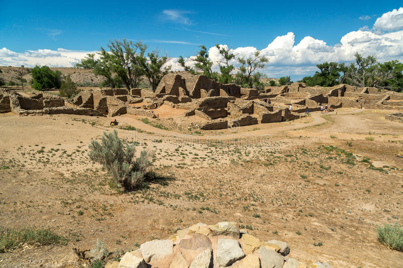 Aztec Ruins National Monument in New Mexico. Amazing scenes from Aztec Ruins in New Mexico stock images