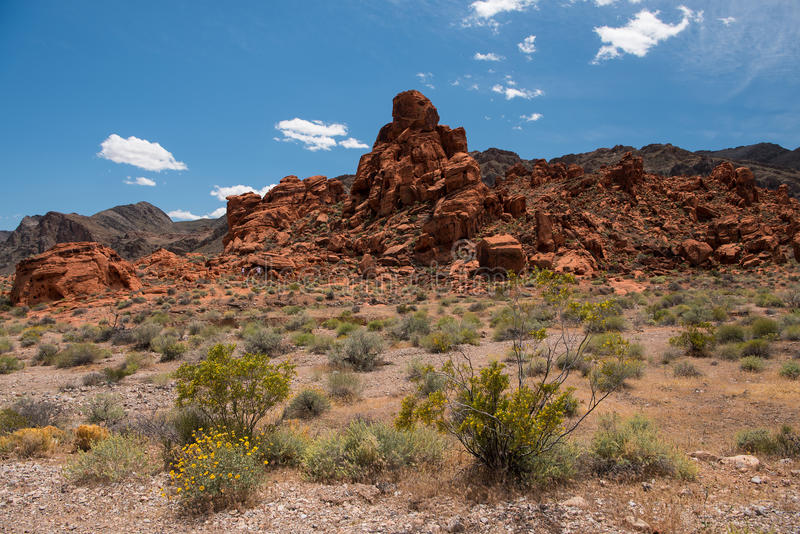 Aztec Sandstone Rock Formation in Valley of Fire State Park royalty free stock photos