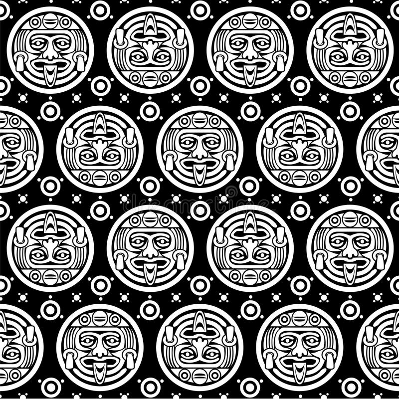 Download Aztec Seamless Pattern stock vector. Image of mayan, death - 28387638