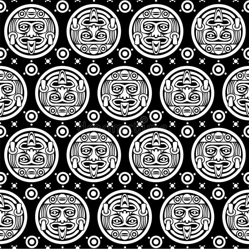 Aztec Seamless Pattern royalty free illustration