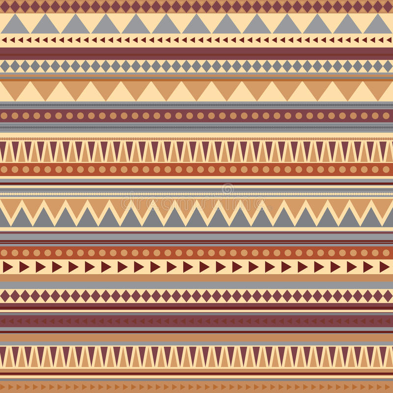 Aztec seamless pattern ancient colors vector illustration