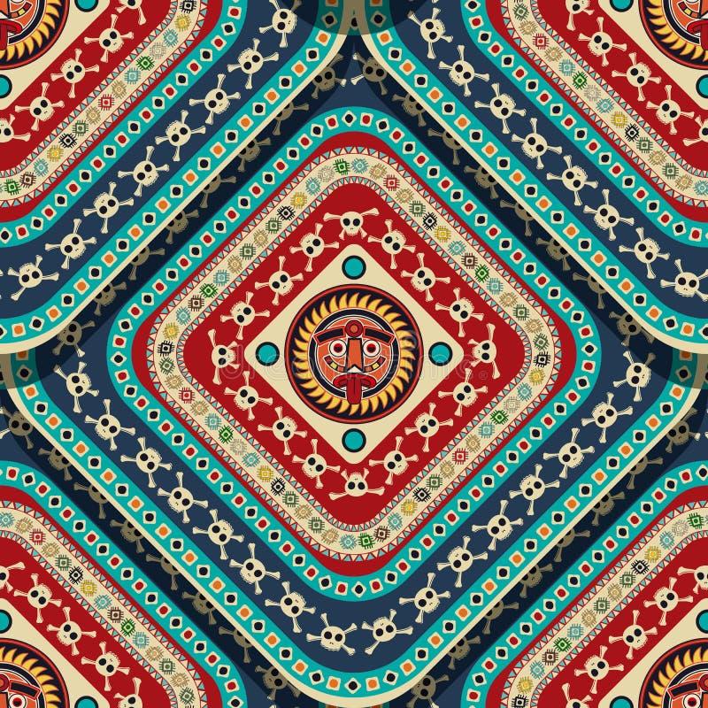 Aztec Seamless Pattern stock illustration