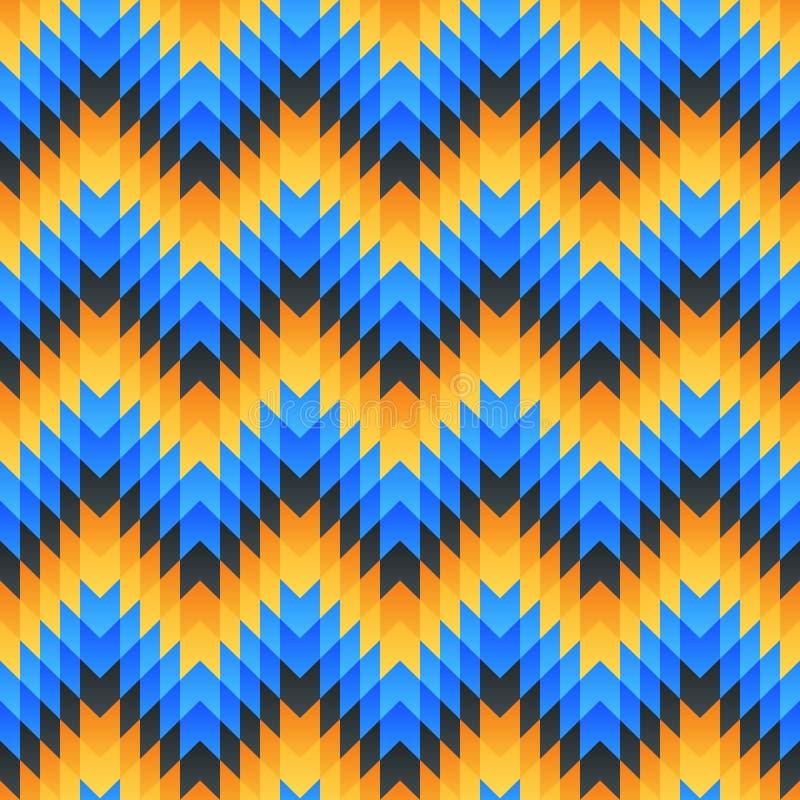Aztec seamless pattern. Vector illustration stock illustration