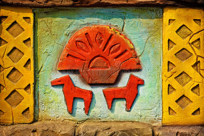 Download Aztec Style Wall Decoration Stock Photo - Image: 26555710
