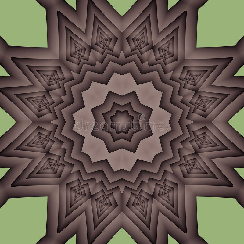 Aztec sun mandala royalty free stock image