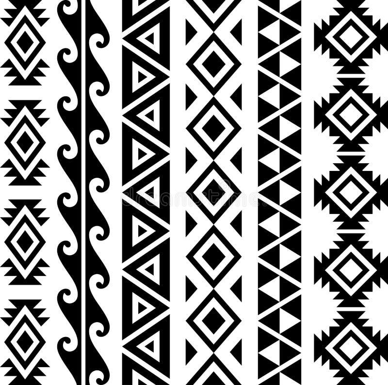 Aztec Tribal Pattern stock photos