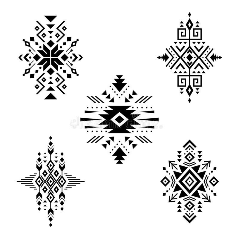 Free Aztec Vector Elements, Ethnic Ornaments. Royalty Free Stock Photography - 159439757