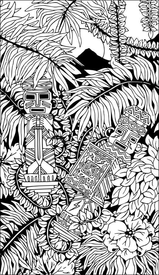 Download Aztec Warriors Totems Doodle Art Stock Vector - Illustration of warrior, american: 62440063