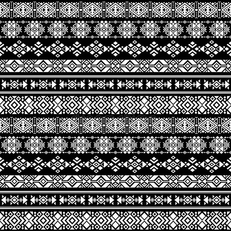 Azteca americano de la natividad, modelo inconsútil del vector peruano tribal stock de ilustración