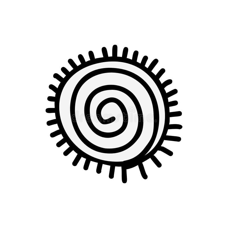 Azteca del icono de Sun stock de ilustración