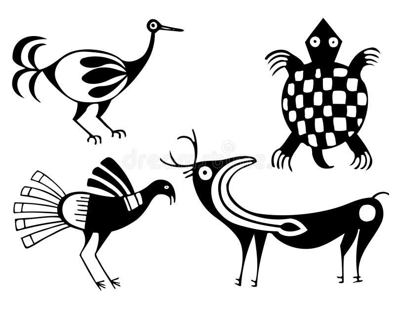 Aztechi illustrazione di stock