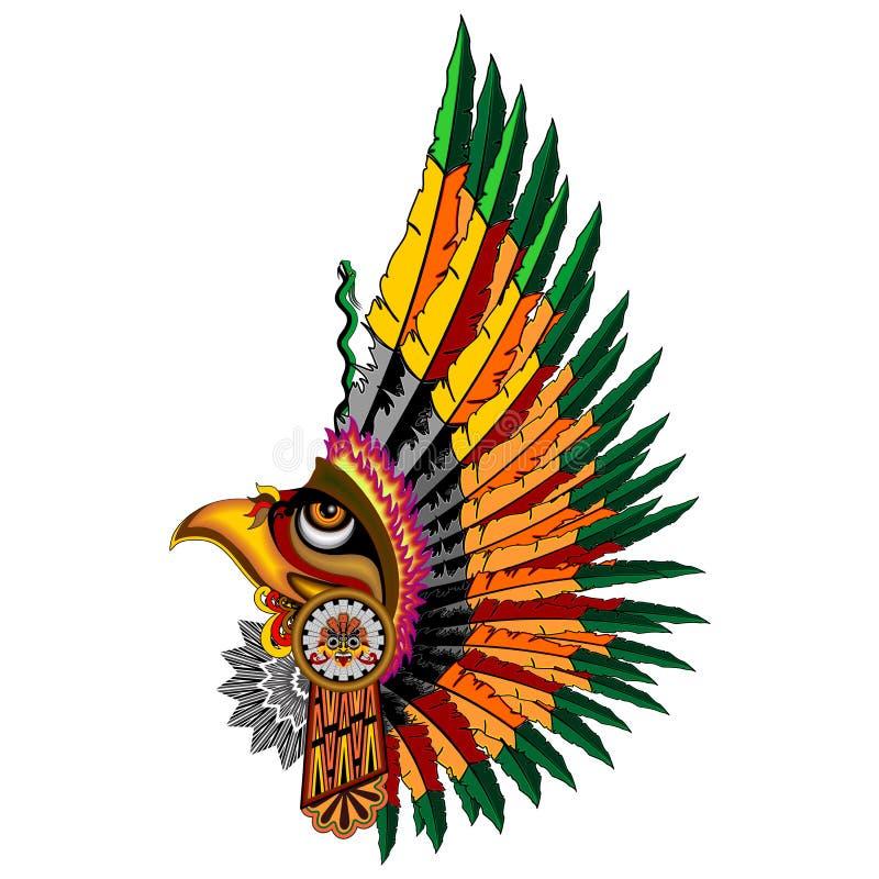 Azteco Eagle Warrior Mask royalty illustrazione gratis