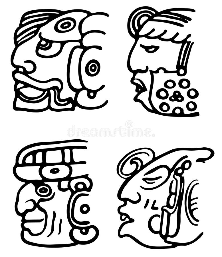 Aztecs stock illustrationer