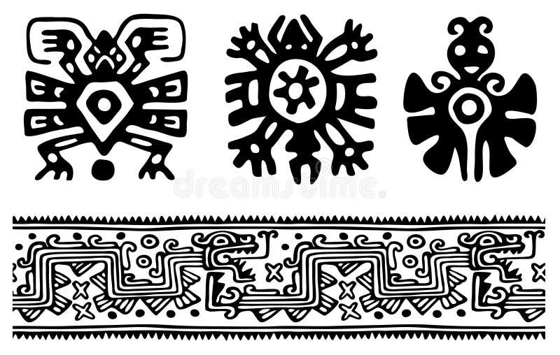 Download Aztecs stock vector. Image of black, hand, concepts, image - 9054046