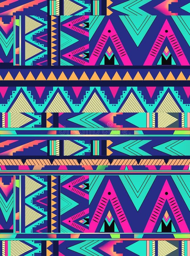 Azteeks driehoekspatroon royalty-vrije stock fotografie